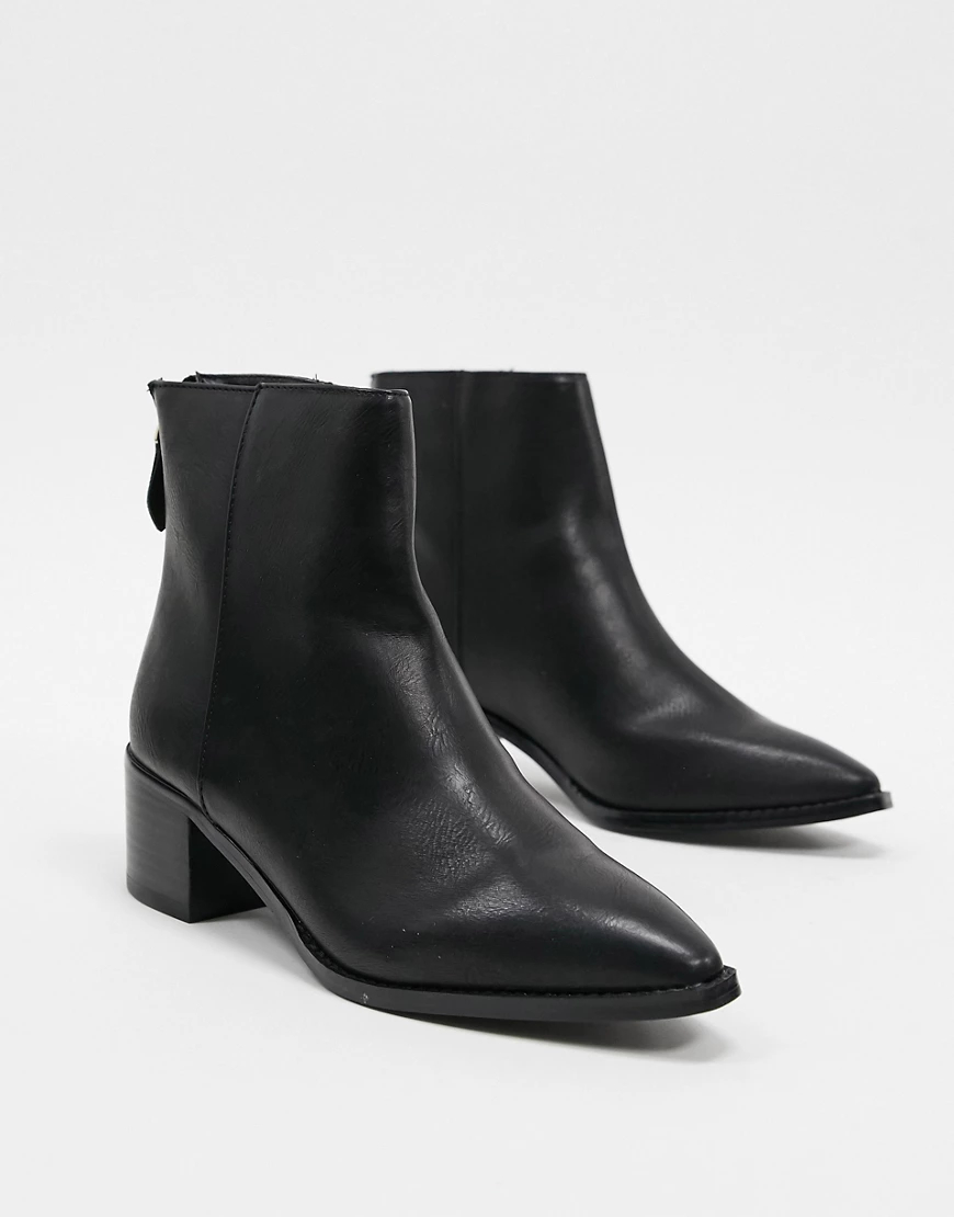 VERO MODA | Ботинки с заостренным носком Vero Моdа-Черный | Clouty