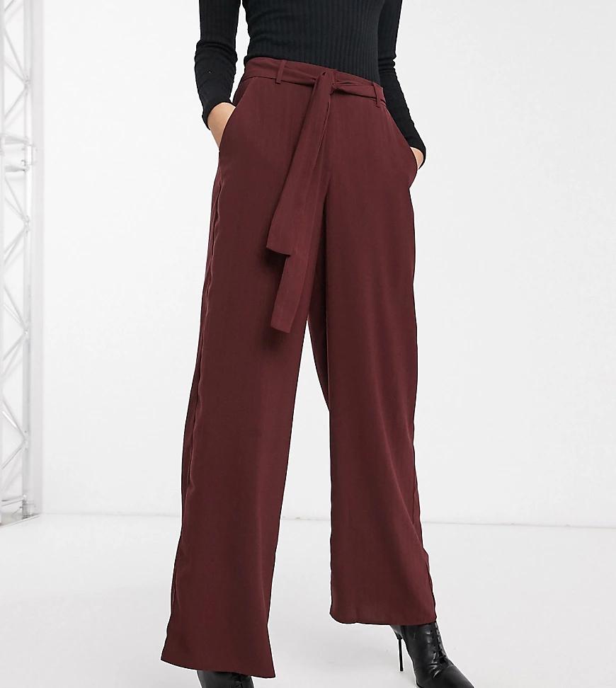 Y.A.S. | Бордовые широкие брюки Y.A.S Таll-Коричневый | Clouty