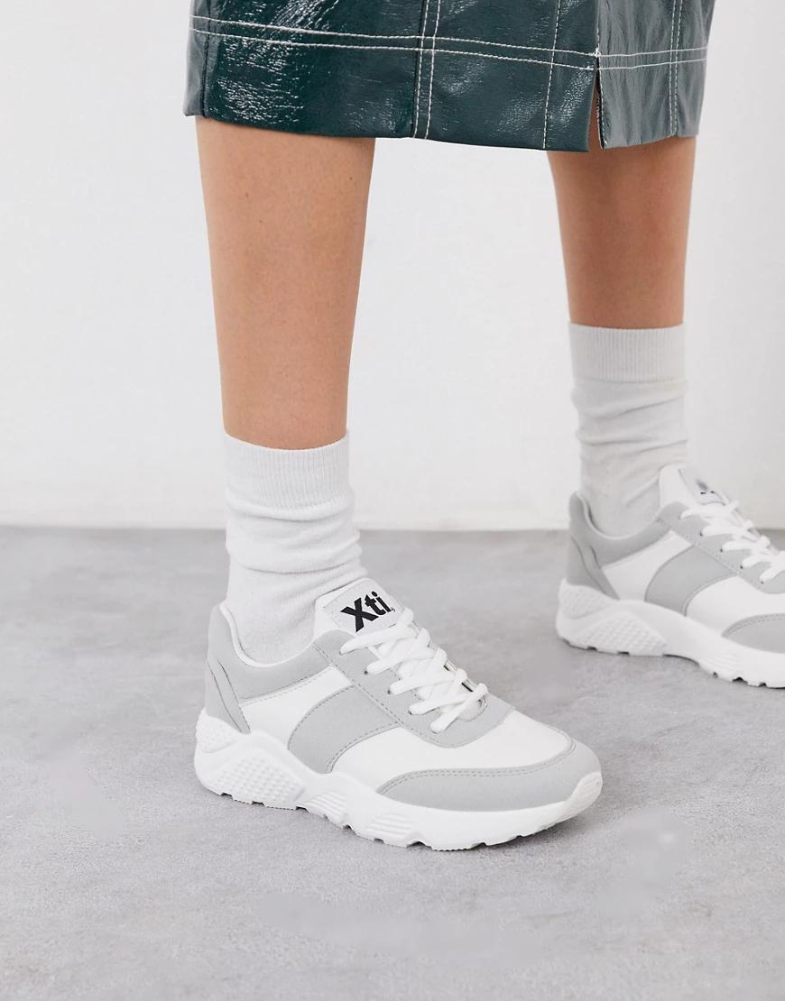 Xti | Бежевые кроссовки для бега на шнуровке ХТI-Бежевый | Clouty