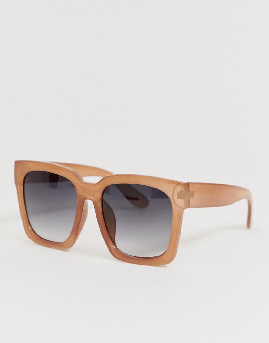 ASOS | Бежевые квадратные солнцезащитные очки ASOS DЕSIGN-Бежевый | Clouty
