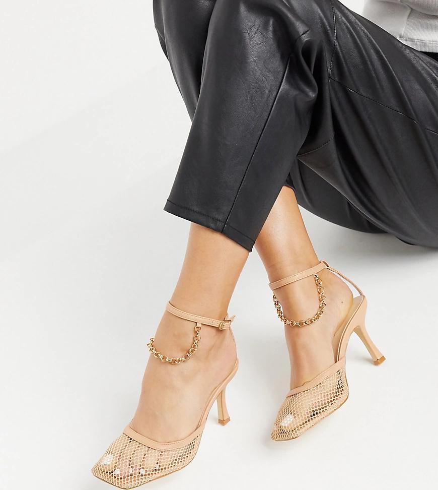 Z_Code_Z | Бежевые туфли в сеточку на каблуке с анклетом Z_Code_Z Exclusive Zoe-Neutral | Clouty