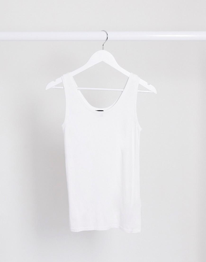 Selected | Белая майка с овальным вырезом Selected Femme-Белый | Clouty