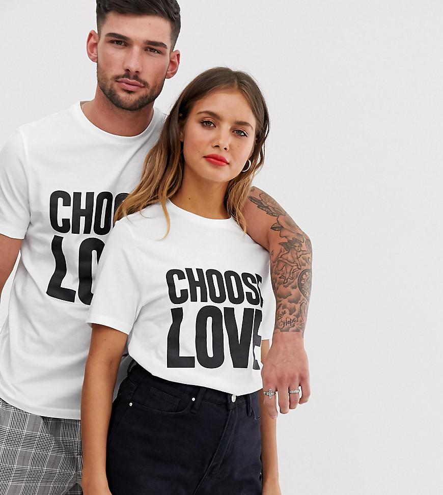 """Help Refugees   Белая футболка из органического хлопка с принтом """"Choose Love"""" Help Refugees-Бeлый   Clouty"""