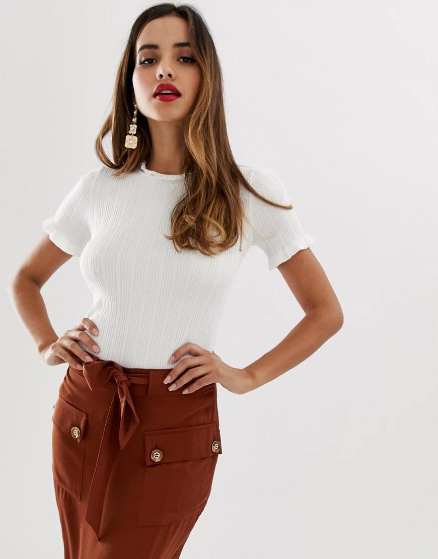 Lipsy | Белая футболка Lipsy-Белый | Clouty