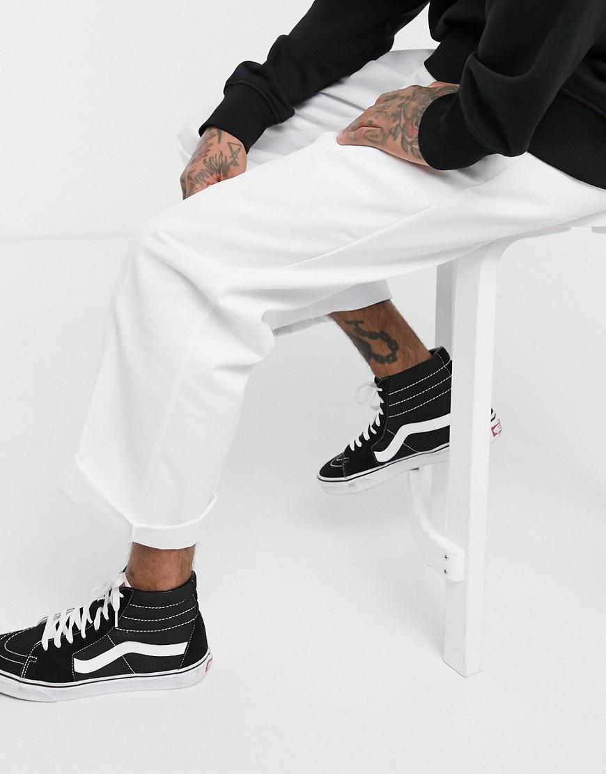 DICKIES | Белые брюки прямого кроя Dickies 874-Белый | Clouty