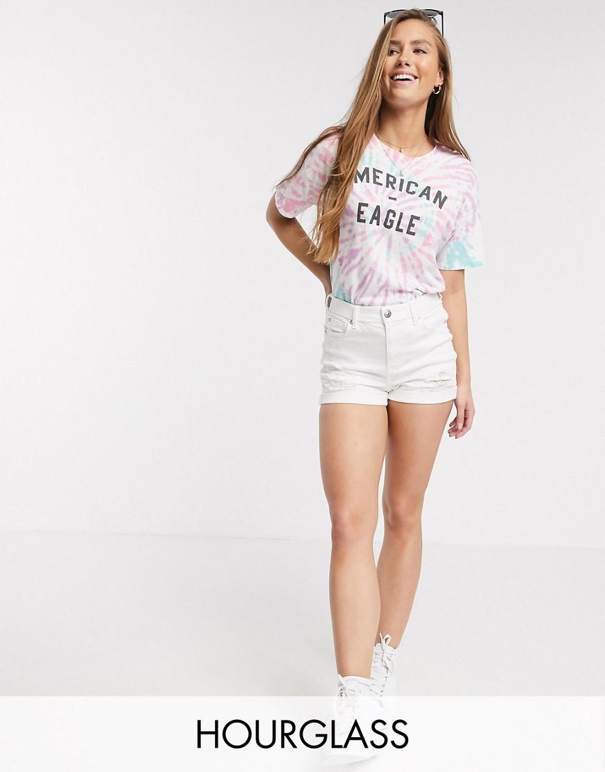 American Eagle | Белые джинсовые шорты American Eagle-Белый | Clouty