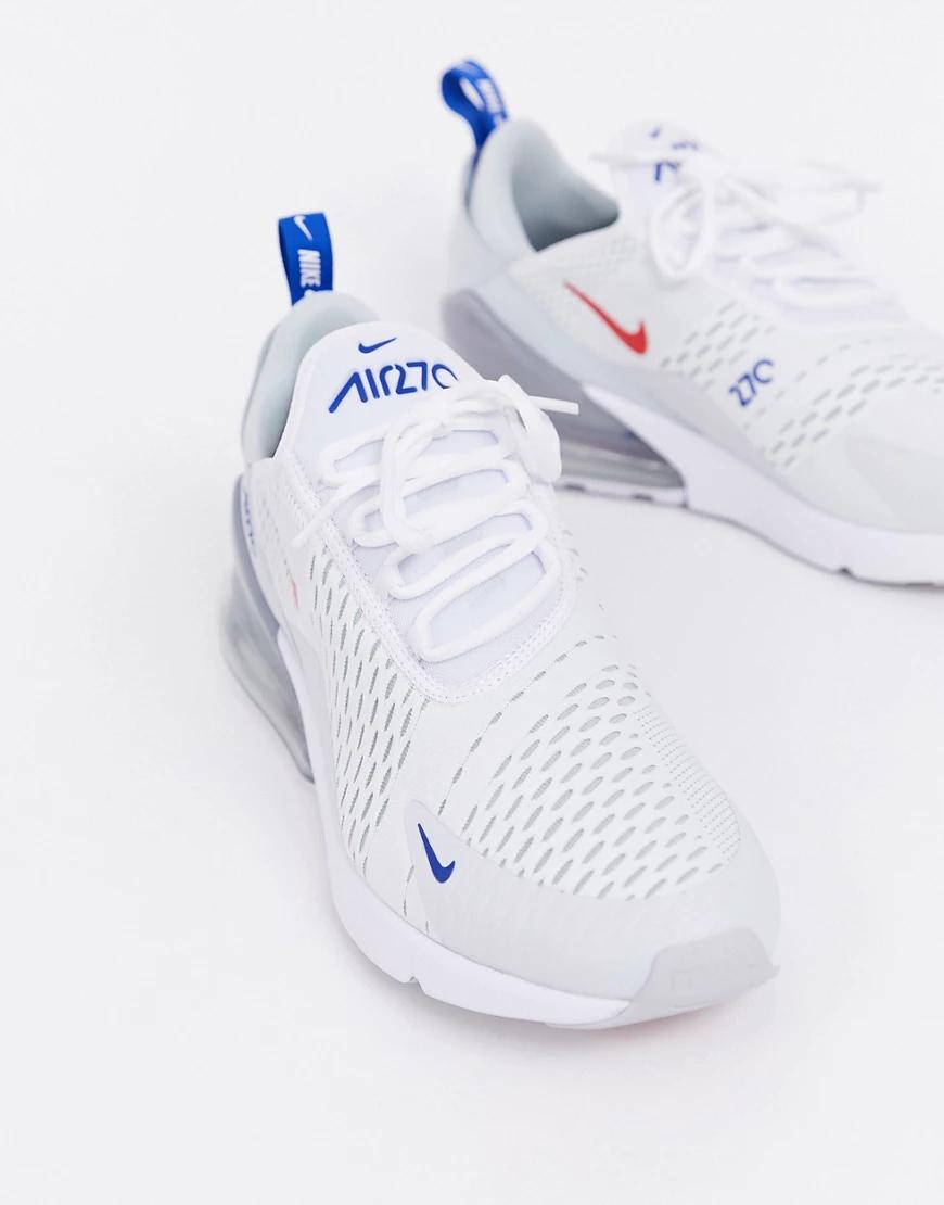 NIKE   Белые кроссовки Nike Air Max 270 СD7338-100-Белый   Clouty