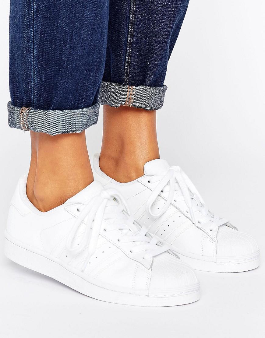 adidas Originals | Белые кроссовки adidas Originals Foundation Superstar-Бeлый | Clouty