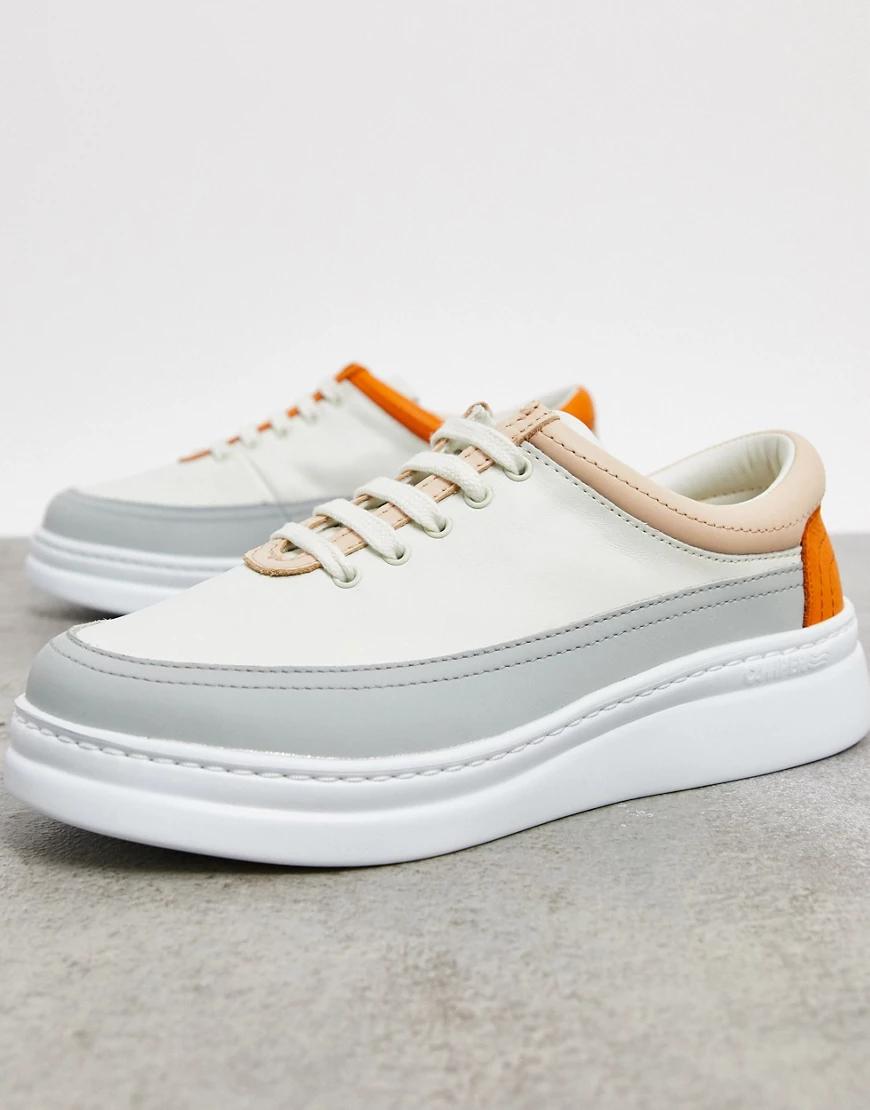 Camper | Белыекожаные кроссовкисовставками Camper-Бeлый | Clouty
