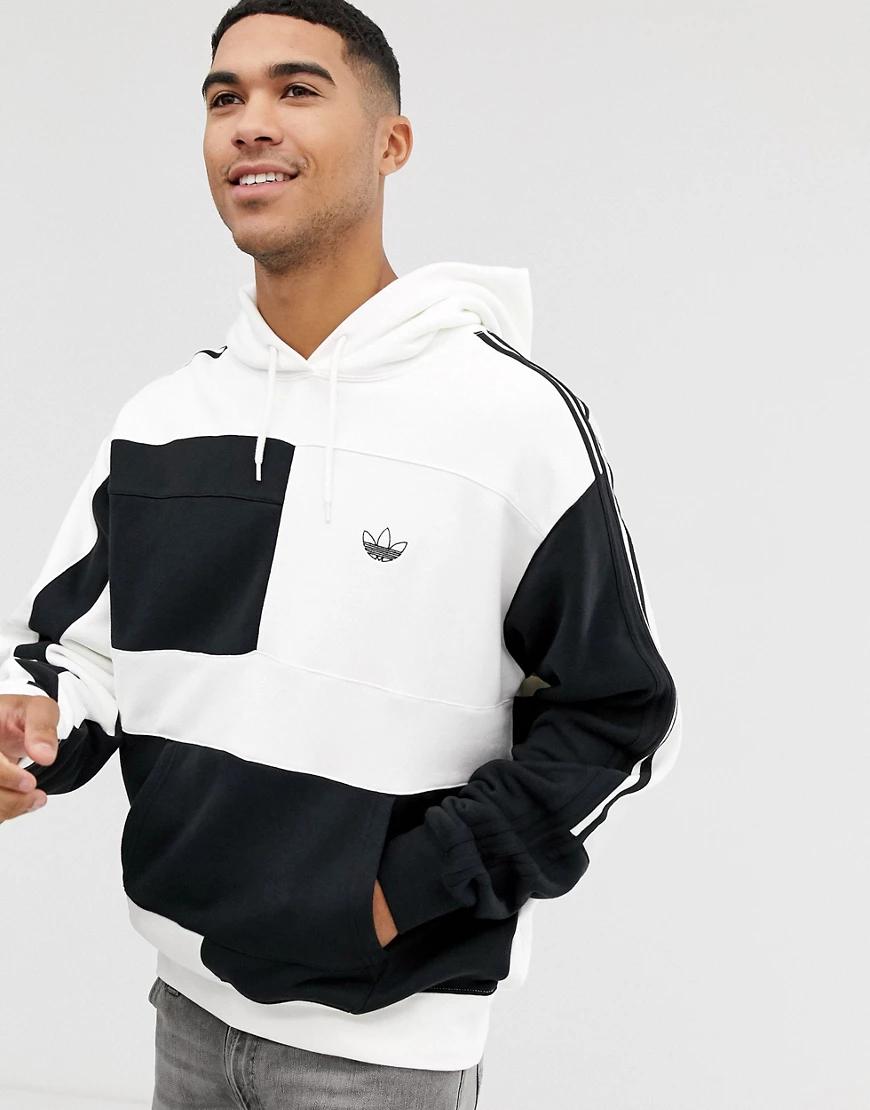 adidas Originals   Белый худи колор блок adidas Originals   Clouty