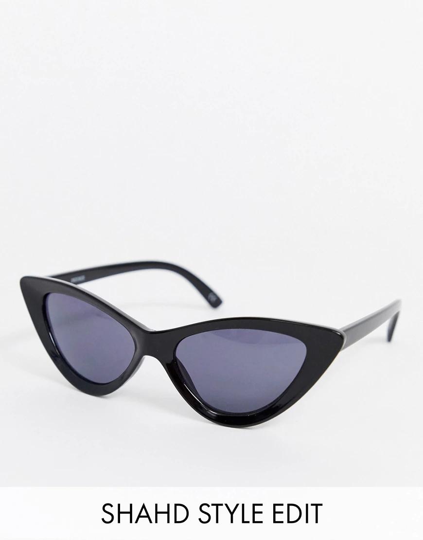 """ASOS   Блестящие черные солнцезащитные очки """"кошачий глаз"""" ASOS DESIGN-Черный   Clouty"""