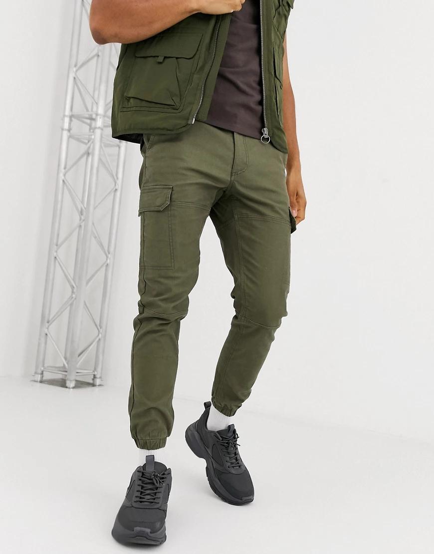 Topman | Брюки карго цвета хаки Торmап-Зеленый | Clouty