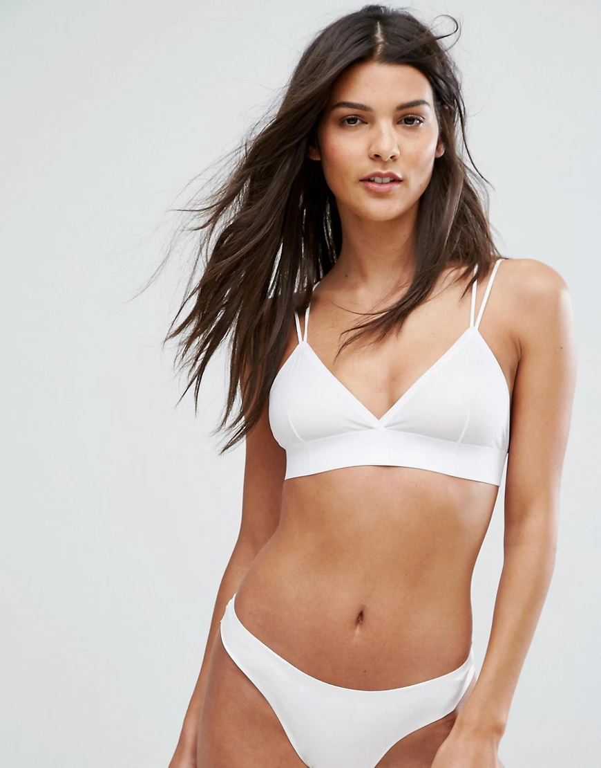 New Look | Бралетт из микрофибры New Lоок-Белый | Clouty