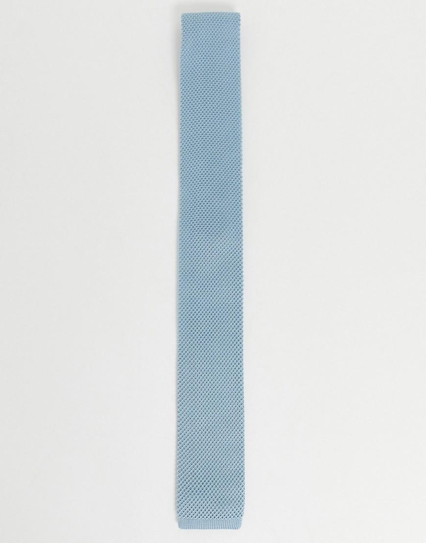 Twisted Tailor | Голубой трикотажный галстук Twisted Tailor-Cuнuй | Clouty