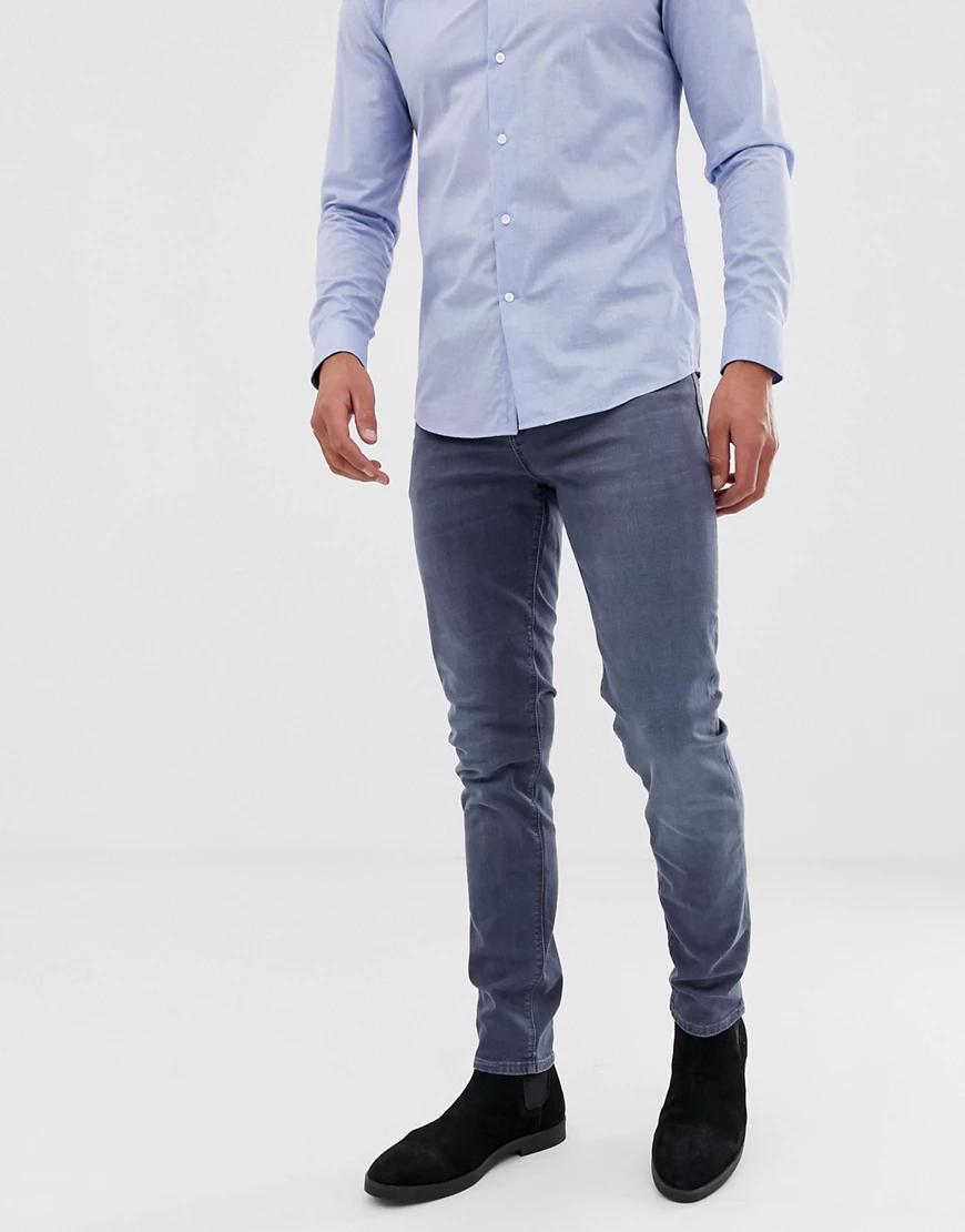 ASOS | Дымчато-синие джинсы скинни ASOS DESIGN-Cuнuй | Clouty