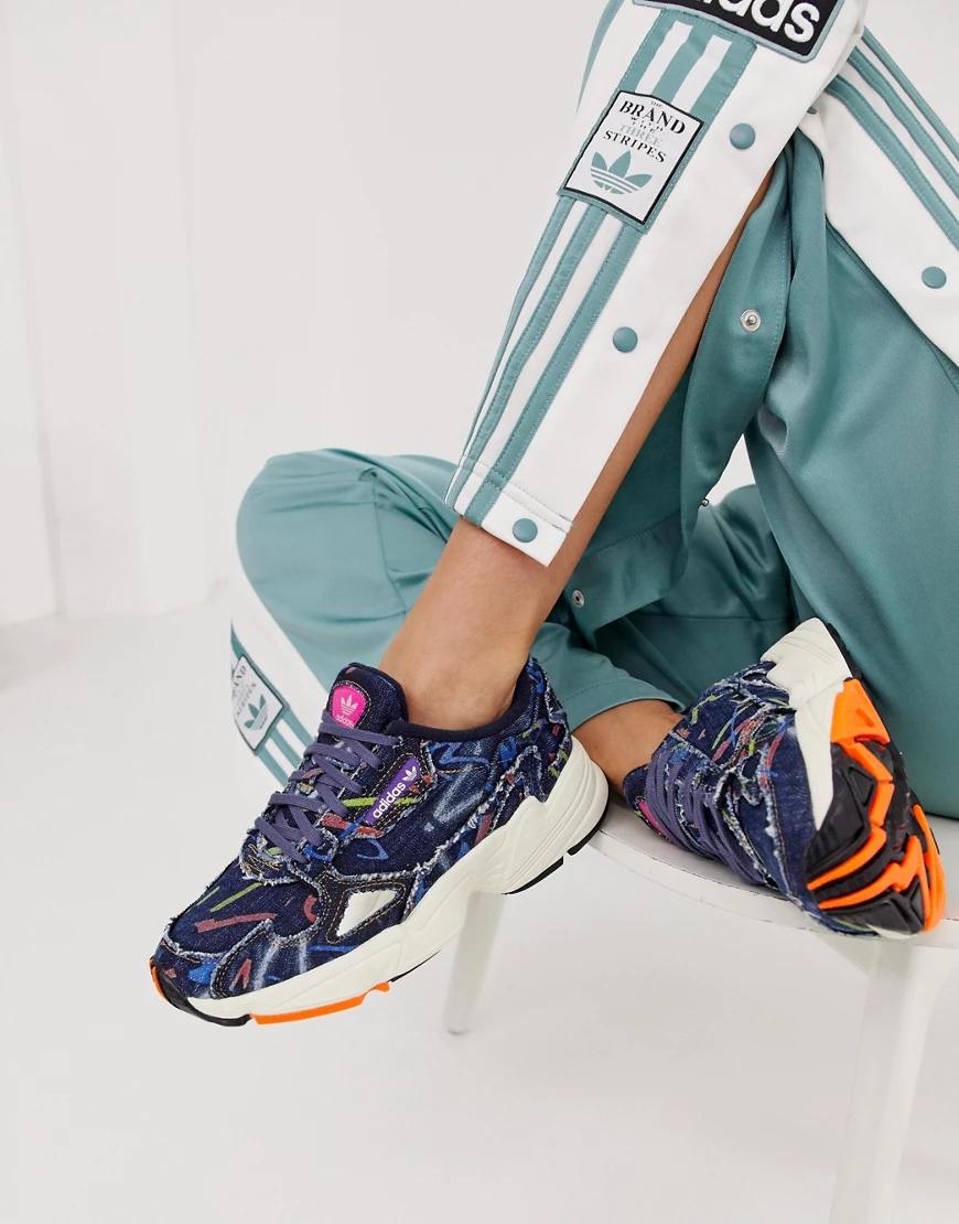 adidas Originals | Джинсовые кроссовки adidas Originals Falcon-Мульти | Clouty