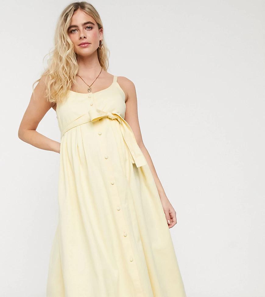 ASOS DESIGN | Джинсовое платье миди ASOS DESIGN Maternity-Зeлeный | Clouty