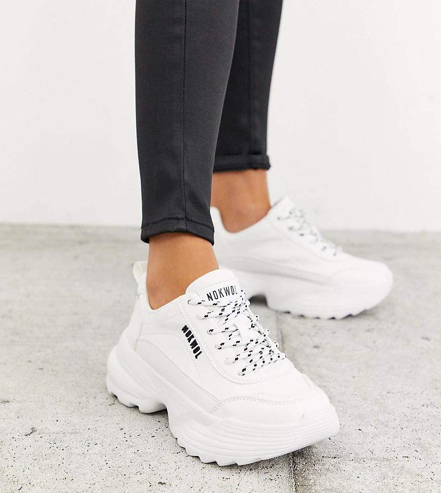 Nokwol | Эксклюзивные белые кроссовки Nokwol Poppy-Белый | Clouty