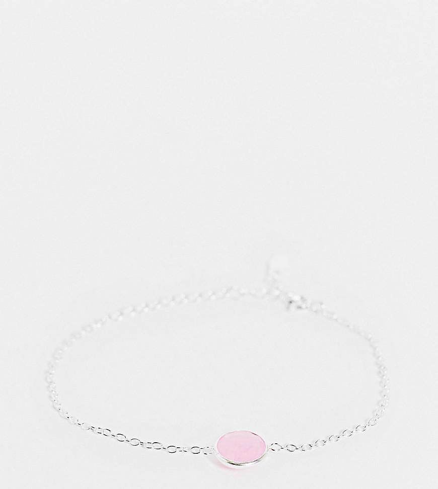 Kingsley Ryan | Эксклюзивный браслет из стерлингового серебра с розовым кварцем Kingsley Rуап-Серебристый | Clouty