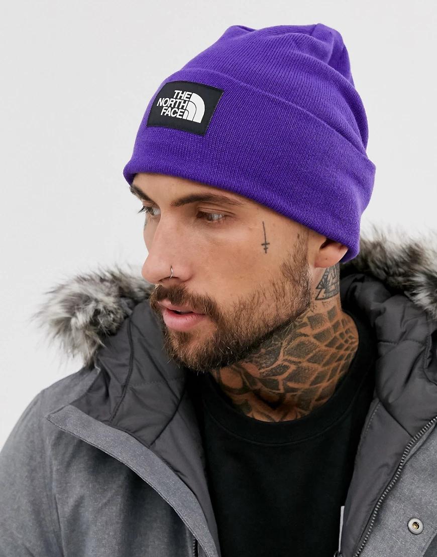 The North Face   Фиолетовая шапка-бини из переработанных материалов The North Face - Dock Wоrкеr-Фиолетовый   Clouty