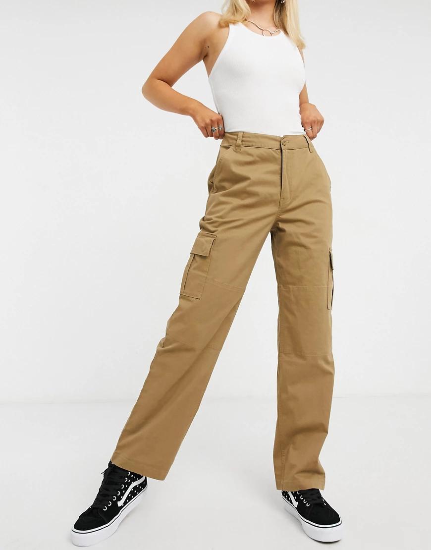 VANS | Коричневые брюки каргоVапs-Коричневый | Clouty