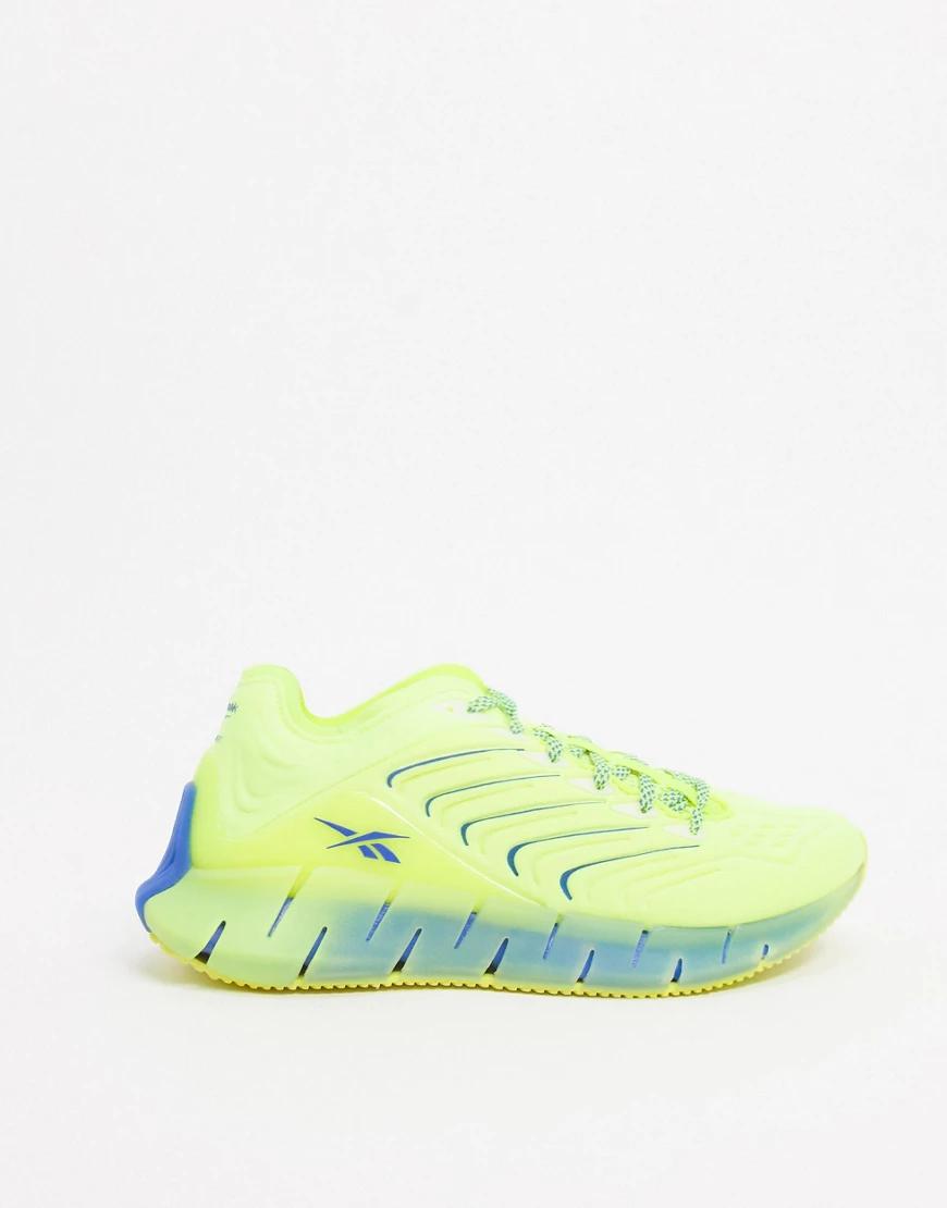 REEBOK   Кислотно-желтые кроссовки Reebok Training x Chromat Zig Kinetica-Жeлтый   Clouty