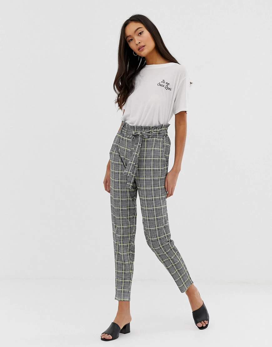 QED London | Клетчатые брюки галифе с присборенной талией QED London-Мульти | Clouty
