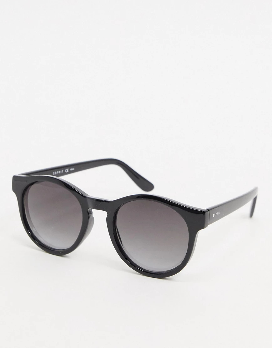 Esprit | Круглые черные солнцезащитные очки Esprit-Черный | Clouty