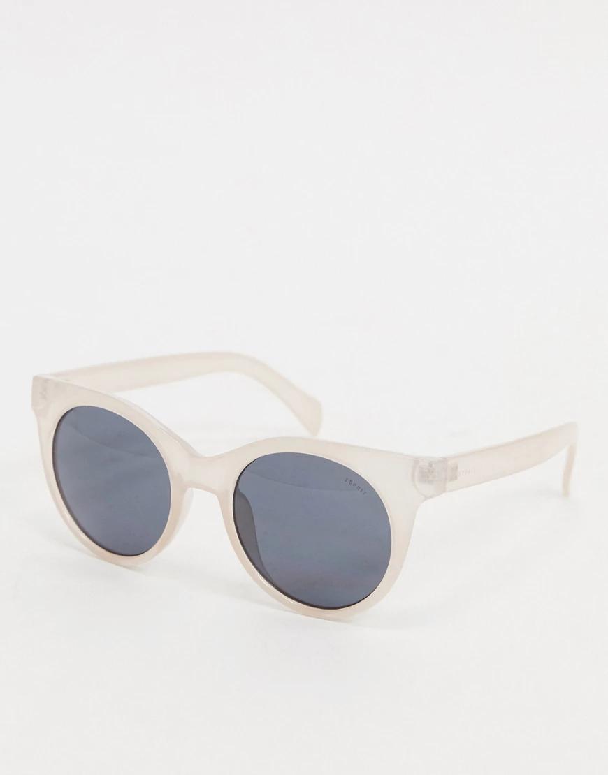 Esprit   Круглые солнцезащитные очки в бежевой оправе Еsрrit-Бежевый   Clouty