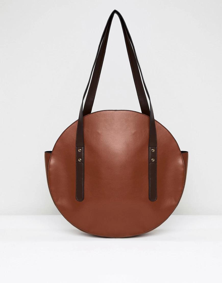 ASOS   Круглая сумка-шоппер ASOS DESIGN-Pыжuй   Clouty