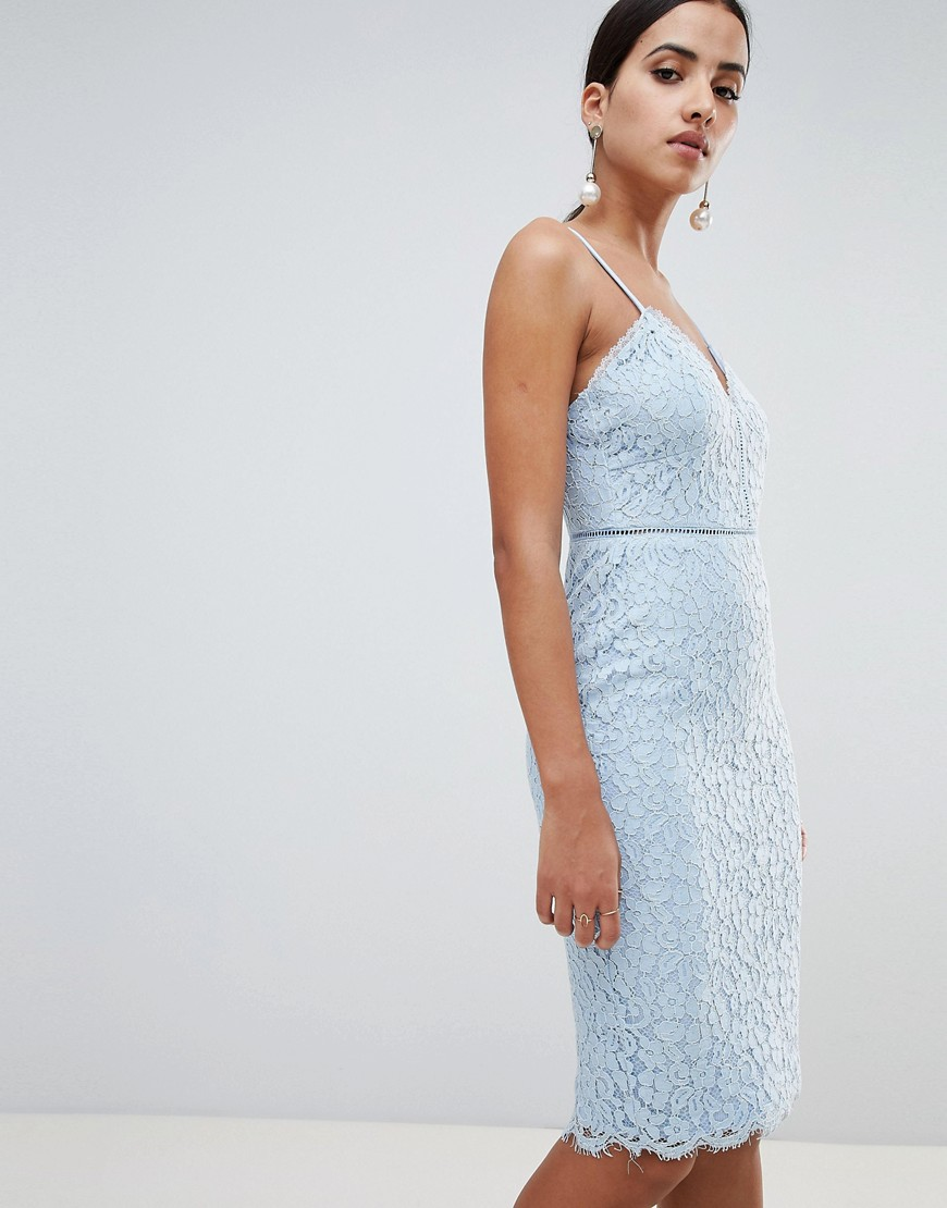 Missguided | Кружевное платье миди на бретельках Missguided-Cuнuй | Clouty