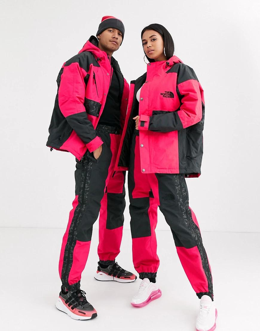 The North Face | Красно-серые брюки с принтом The North Face 94 Rаgе-Красный | Clouty