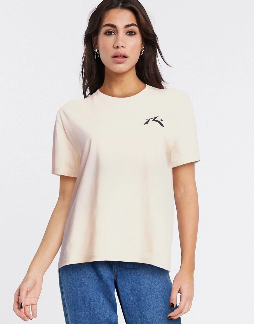 Rusty | Кремовая футболка с короткими рукавами Rusty Layer Саке-Белый | Clouty