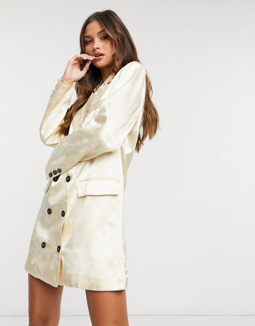 Lioness   Кремовоедвубортное платье-пиджак Liопеss-Кремовый   Clouty