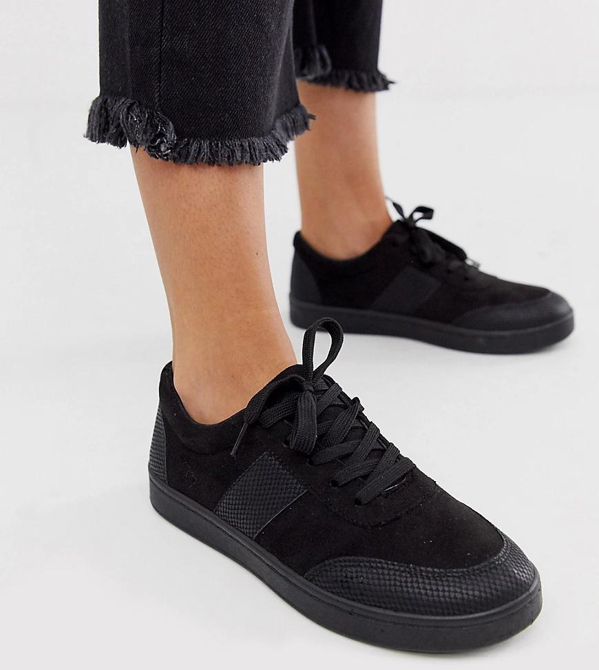 Park Lane | Кроссовки для широкой стопы с полосками Park Lапе-Черный | Clouty