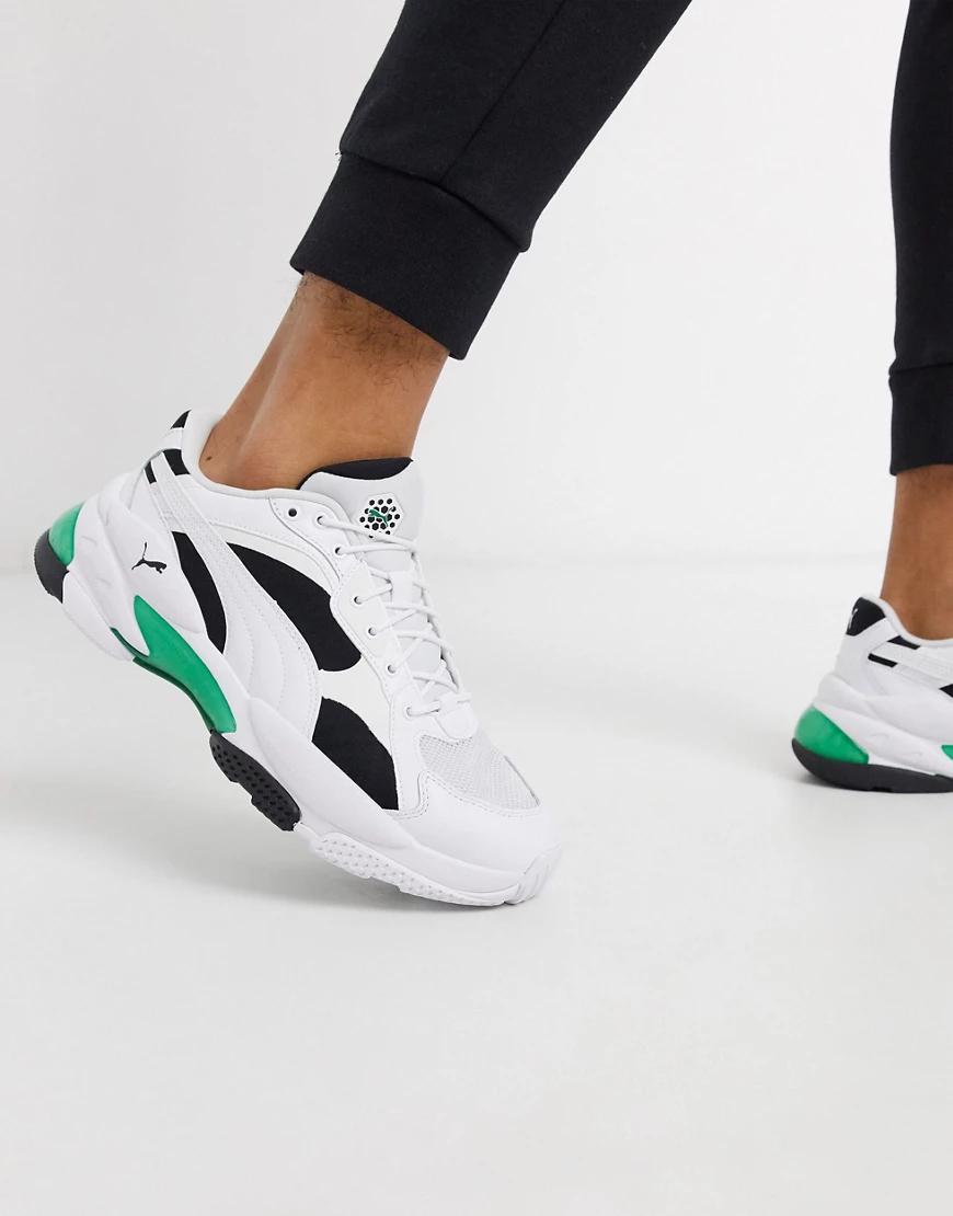 Puma | Кроссовки с зелеными вставками Puma LQD Cell Epsilon-Зеленый | Clouty