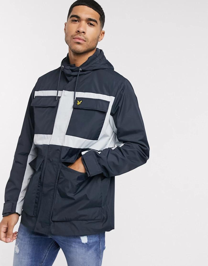 Lyle & Scott | Куртка в стиле колор блок Lyle & Sсоtt-Темно-синий | Clouty