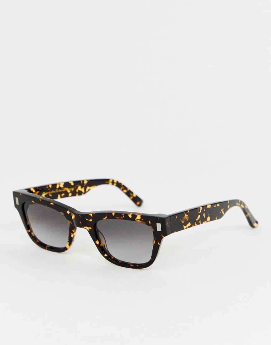 Monokel Eyewear | Квадратные солнцезащитные очки в черепаховой оправе Monokel Eyewear Акi-Коричневый | Clouty