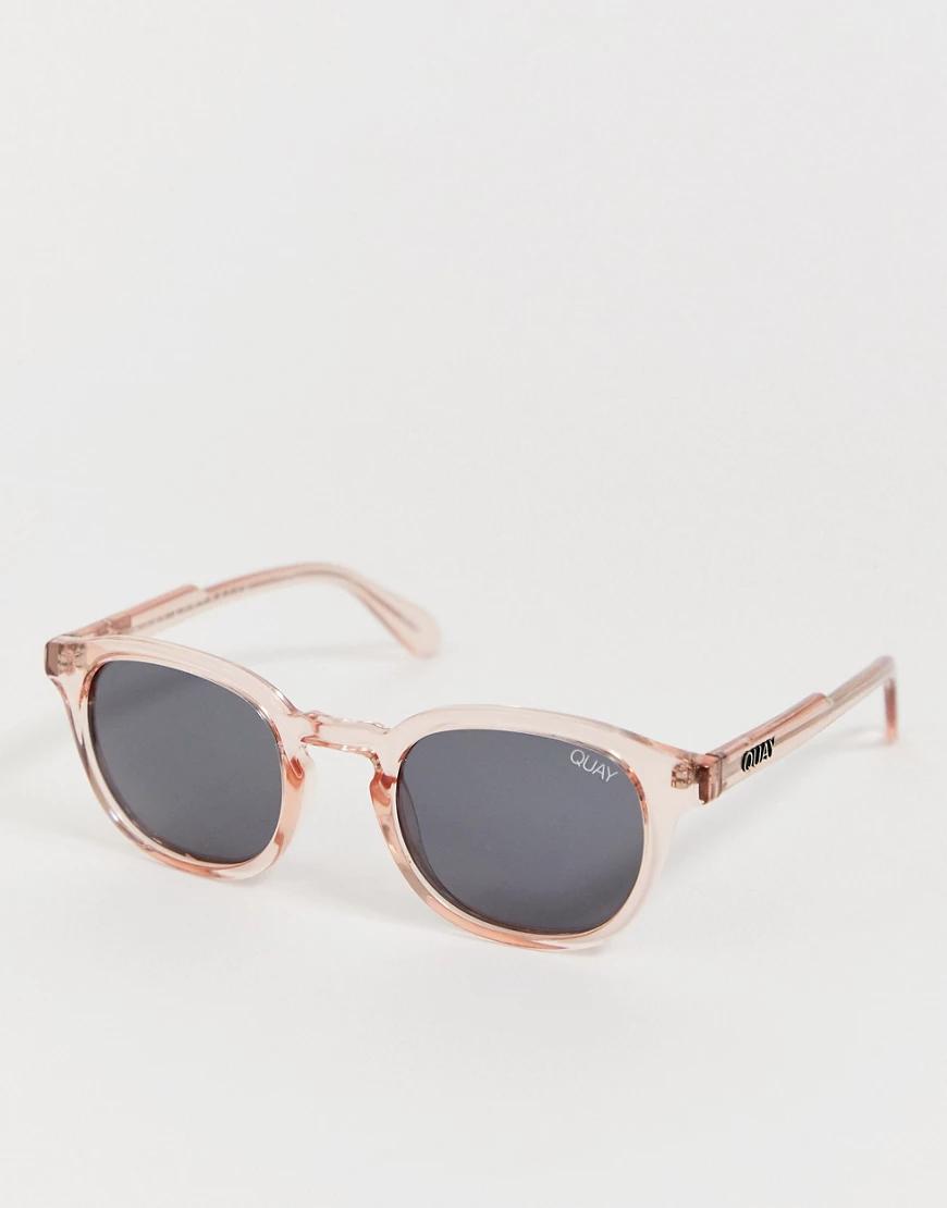 Quay Australia   Квадратные солнцезащитные очки Quay Walk Оп-Оранжевый   Clouty