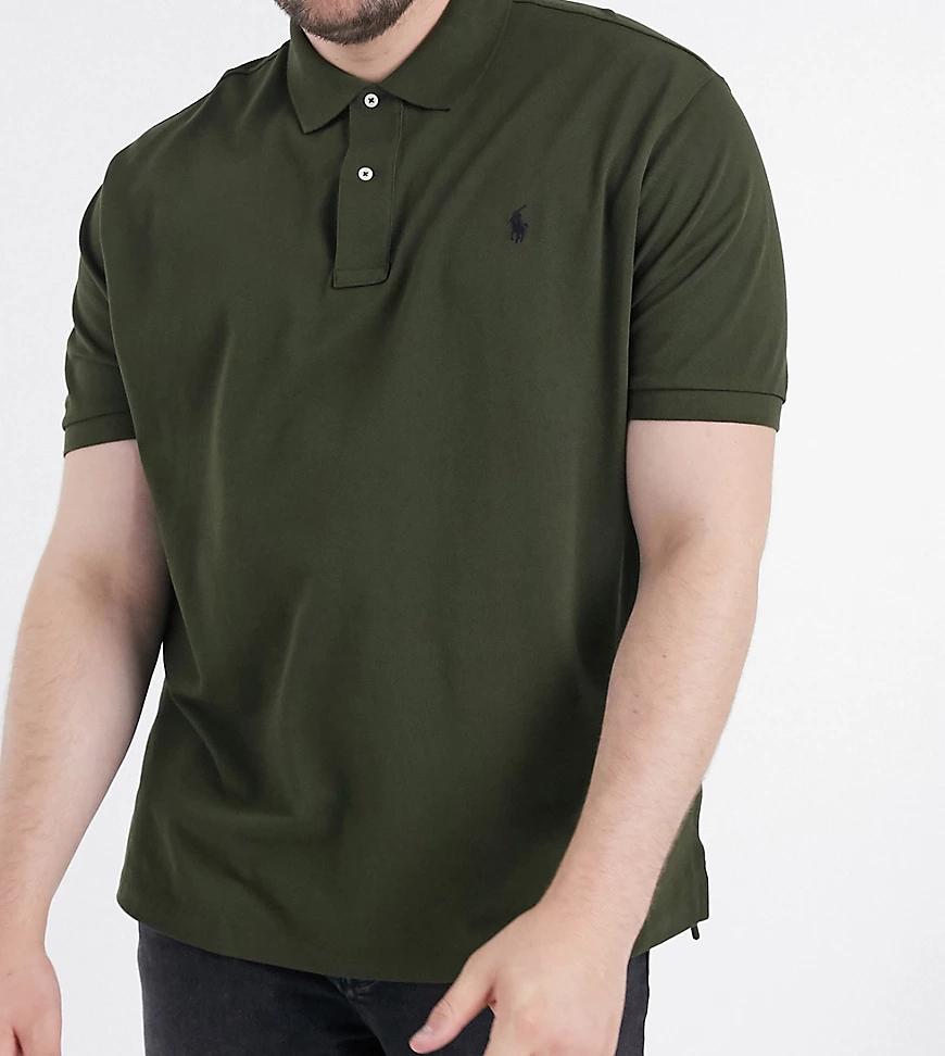 POLO RALPH LAUREN   Оливково-зеленое поло из пике с логотипомPolo Ralph LaurenBig &Таll-Зеленый   Clouty
