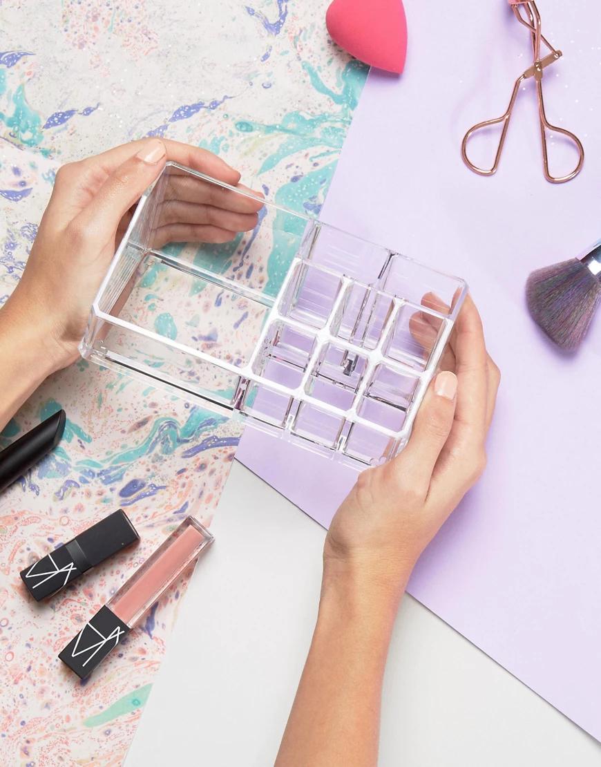 Beauty Extras   Органайзер для косметических средств-Бесцветный   Clouty