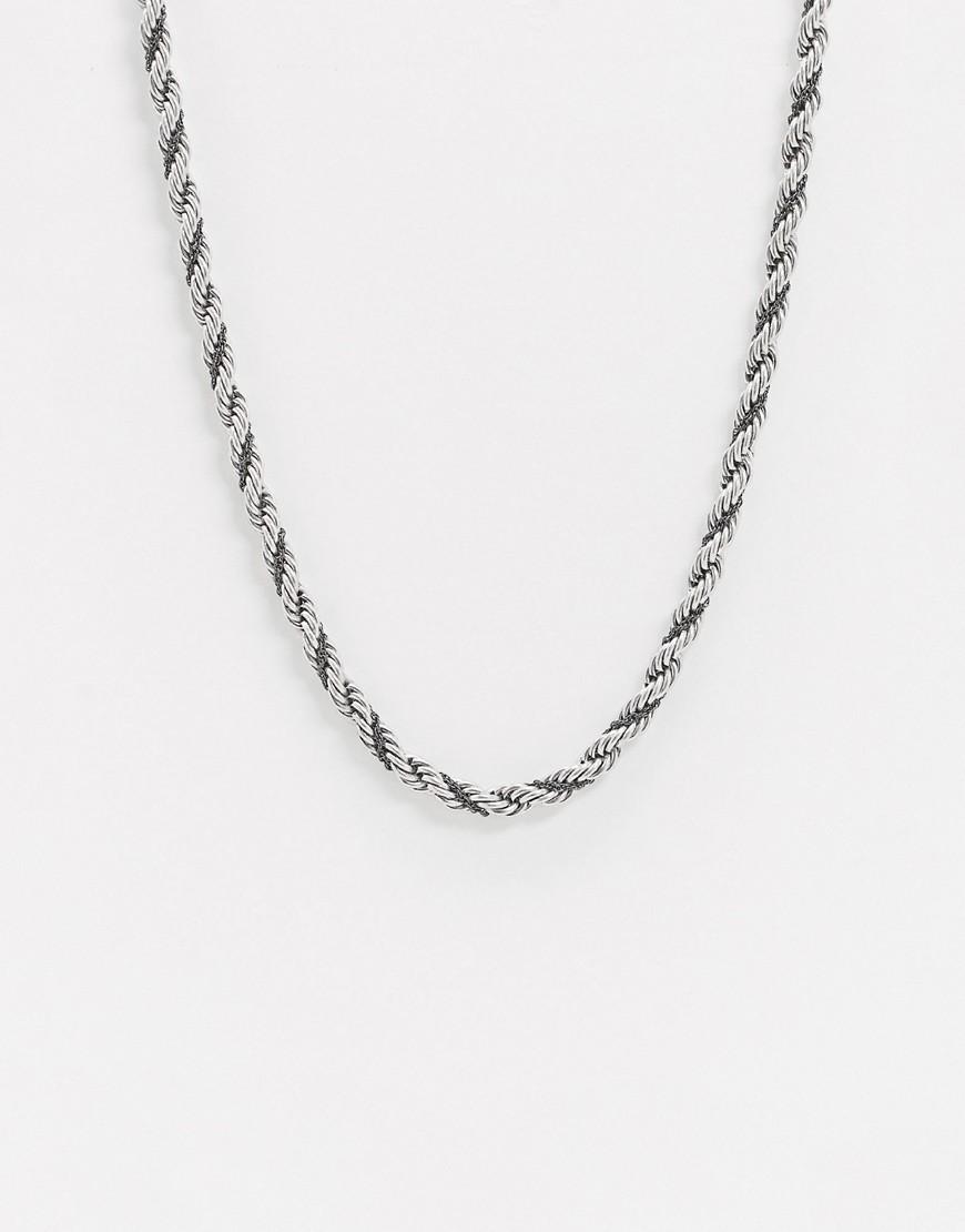 ASOS | Ожерелье ASOS DЕSIGN-Серебряный | Clouty