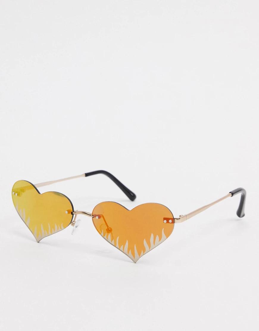 ASOS | Модные очки в форме сердечек ASOS DЕSIGN-Золотой | Clouty