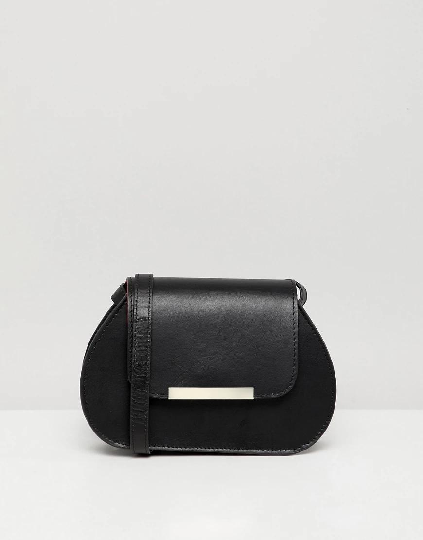 ASOS | Маленькая кожаная сумка ASOS DESIGN-Черный | Clouty