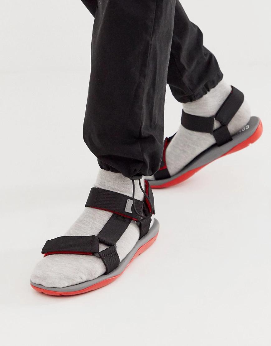 Camper | Массивные сандалии с черной и красной отделкой Camper-Черный | Clouty