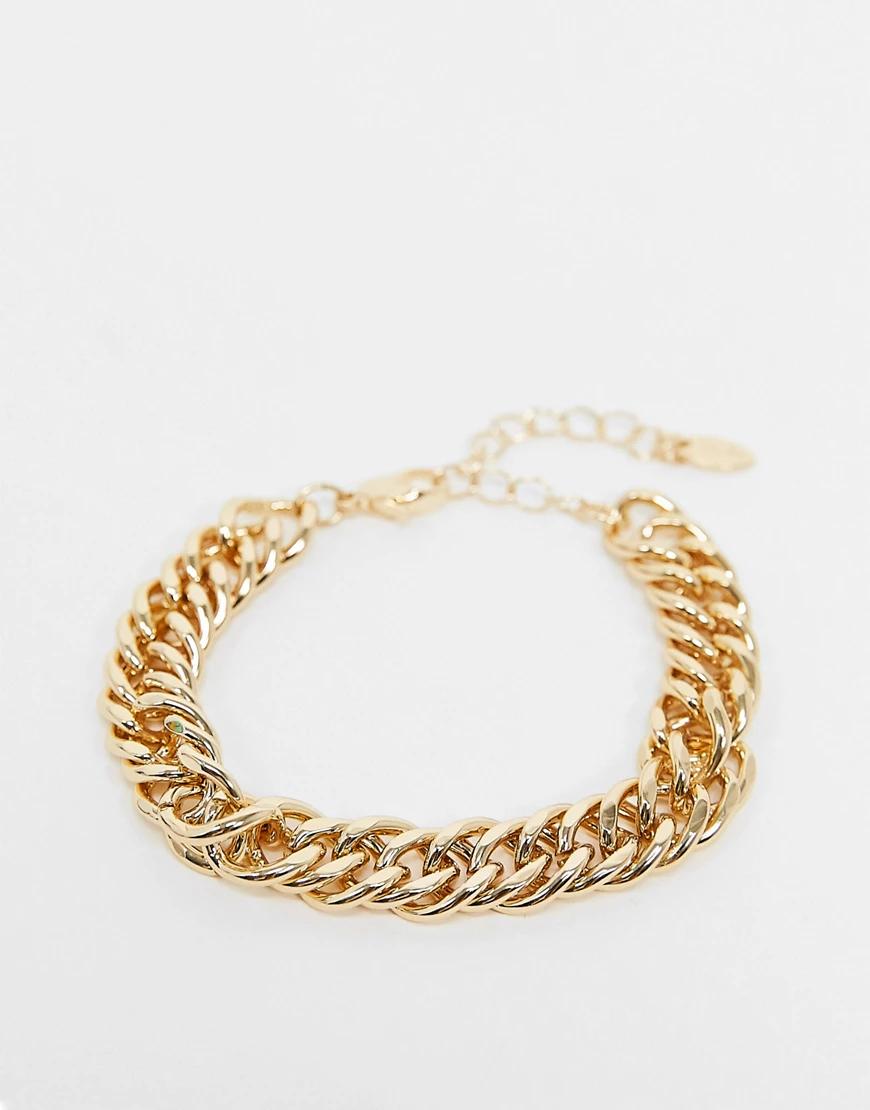 Liars & Lovers | Массивный браслет в виде золотистой цепочки Liars & Lоvеrs-Золотистый | Clouty