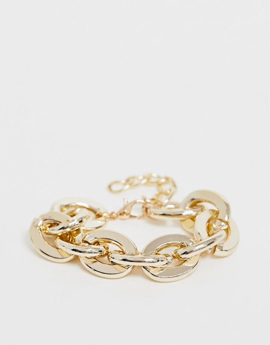 Ashiana | Массивный золотистый браслет-цепочка Ashiana | Clouty