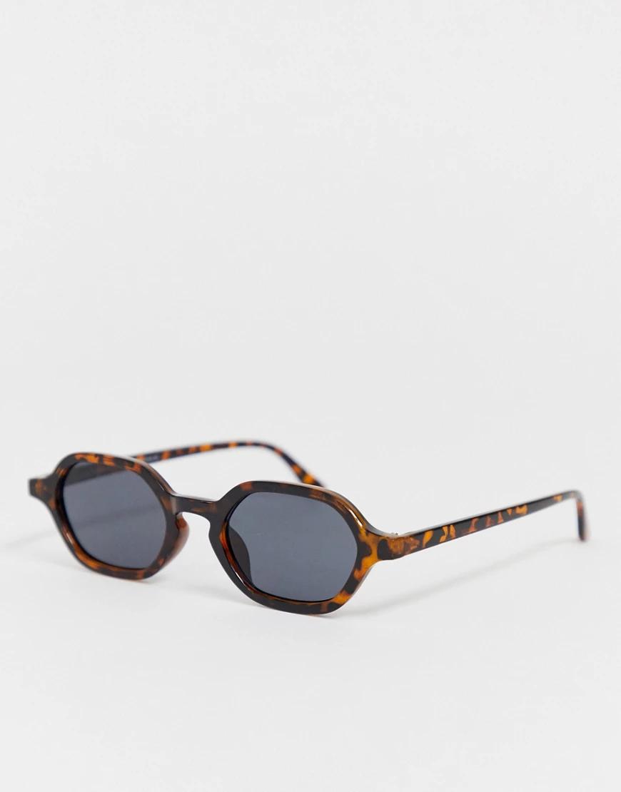 7x   Солнцезащитные очки в черепаховой оправе в стиле ретро SVNХ-Коричневый   Clouty