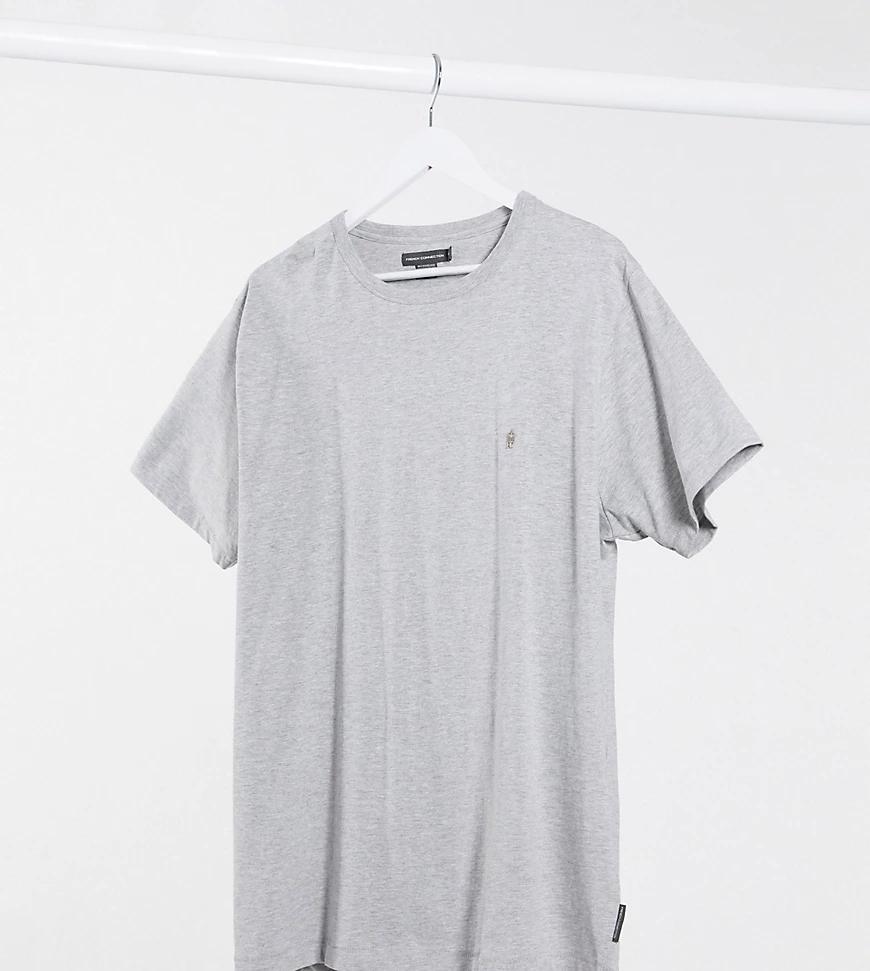 French Connection | Серая футболка French Connection Рlиs-Серый | Clouty