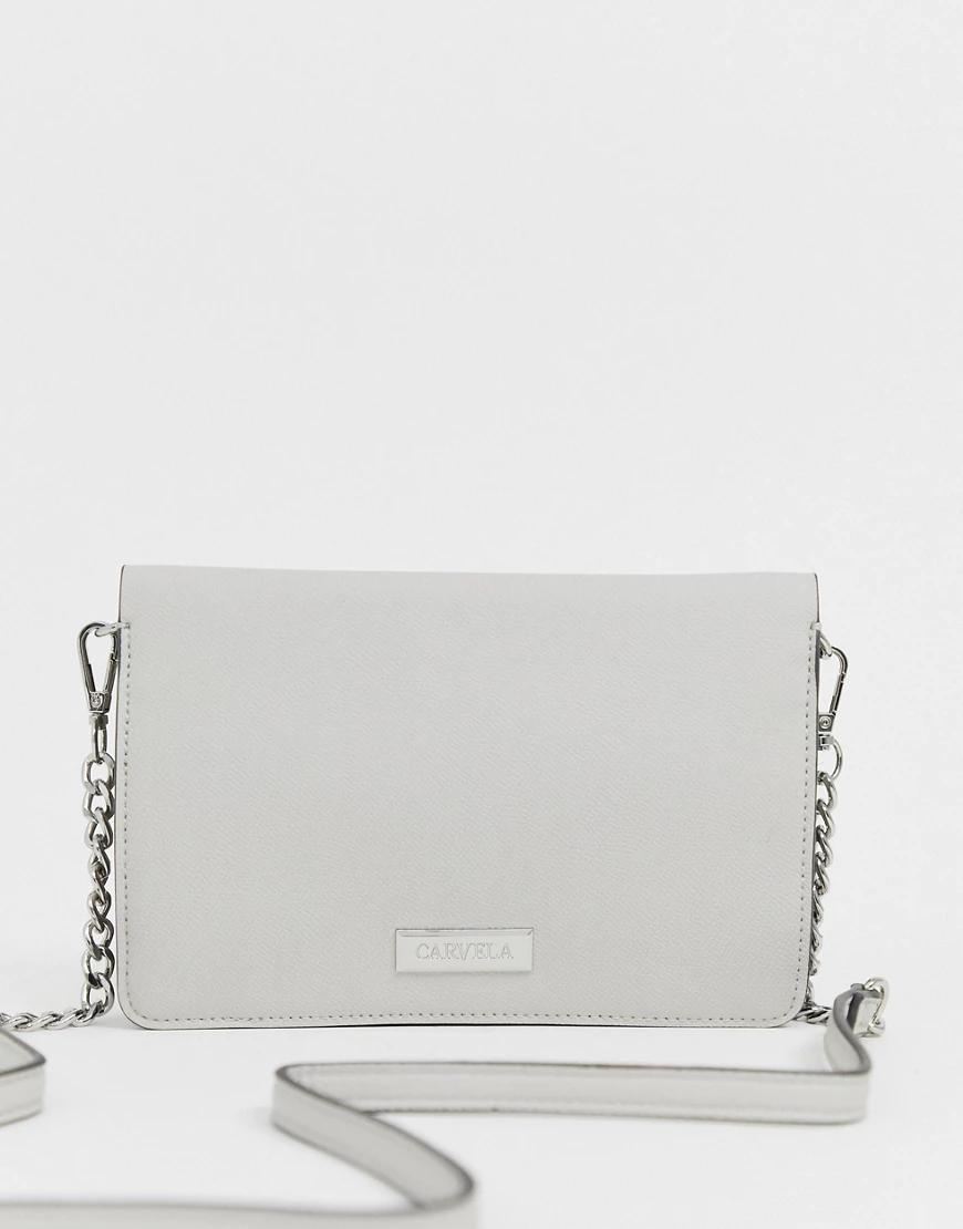 Carvela | Серая сумка через плечо Carvela Erica-Серый | Clouty